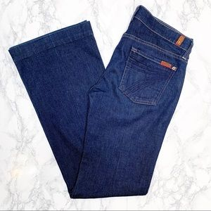 7 For All Mankind NWOT Dojo Flare Jeans Dark Wash